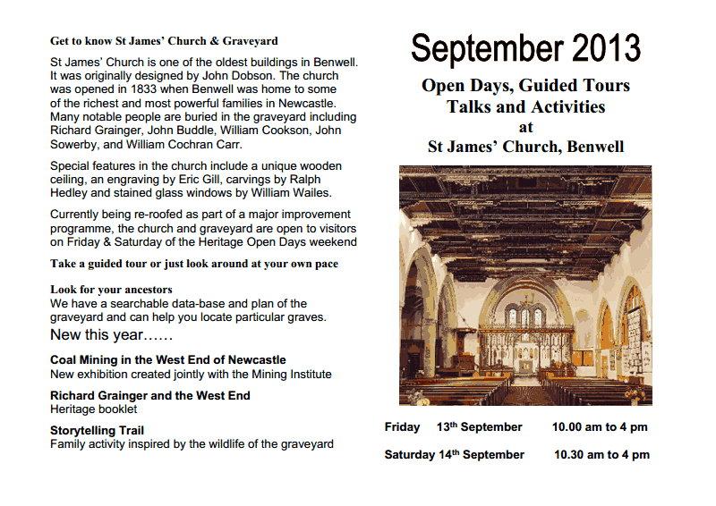 St James HODs 2013 revised leaflet 1