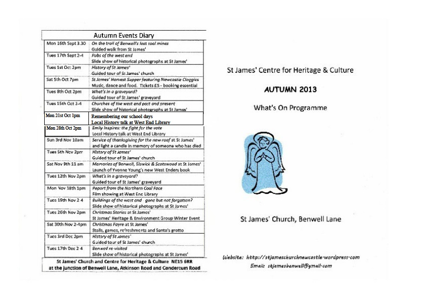 Autumn programme 2013 - revised page