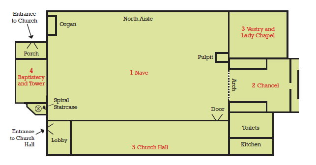 Outline Plan of St James' Church