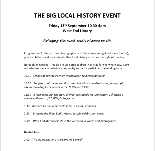 The Big Local History Event